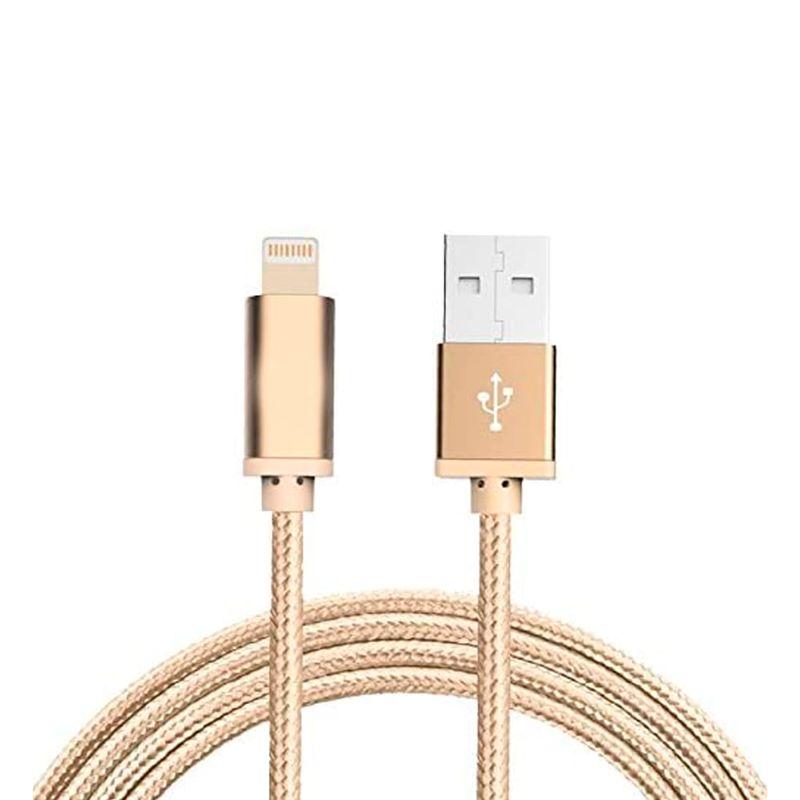 Cable-usb-am-a-iphone-trenzado-color-dorado