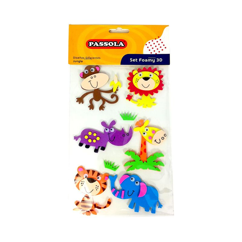 Foamy-figura-adh-3d-jungla-passola--foa305-