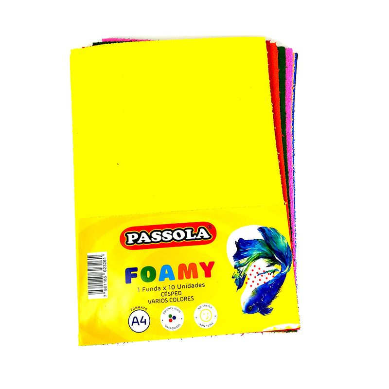 Foamy-a4-cesped-x-10-v-colores-passola--foa151-