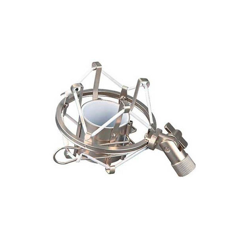 Base-con-rosca-para-microfono-de-estudio-italy-audio---antivibracion----para-ped.---plateado