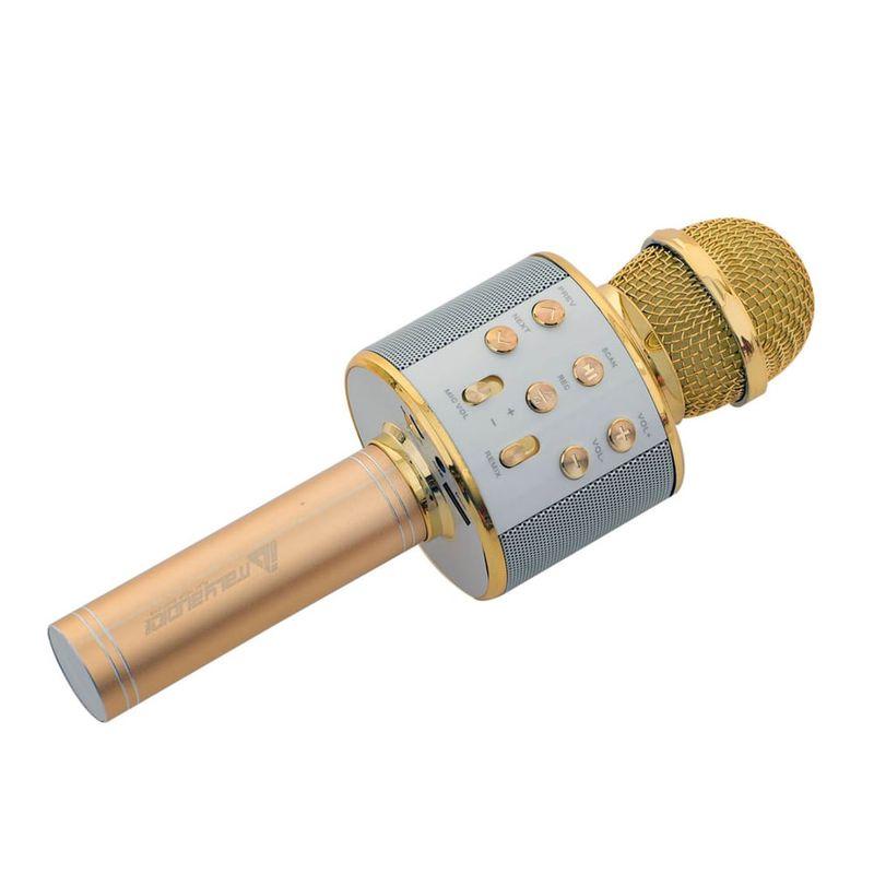 Microfono-karahoke-dorado